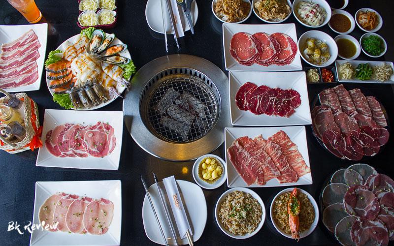 อาหารทั้งหมดและน้ำจิ้ม-Togyu Yakiniku (4 of 4)
