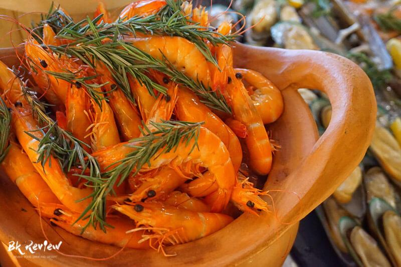 หอยเชลล์ ฮอกไกโด แซลม่อน - Buffet Seafood Crowne Plaza Lumpini-5