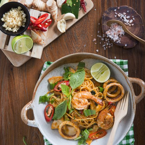 Signature Tom Yum Kung Pasta