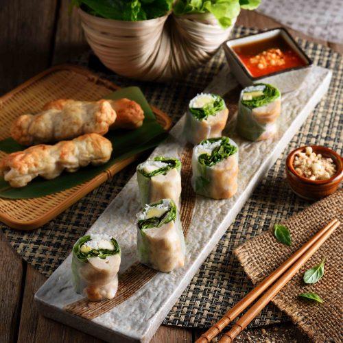 แหนมเนืองโรล Vietnamese Spring Rolls  ราคา 120