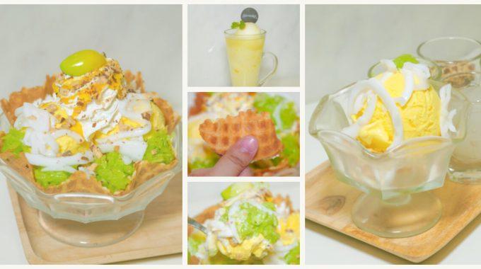 [รีวิว] ไอศกรีมมะม่วงอกร่องทองปะทะข้าวเหนียวใบเตย ดูโอ้สุดฟิน @Swensen's